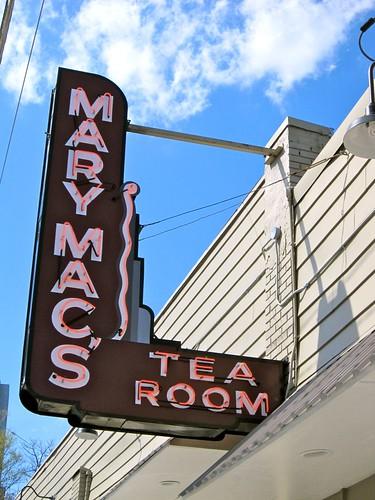 Mary Mac's Tea Room Neon Sign Atlanta GA