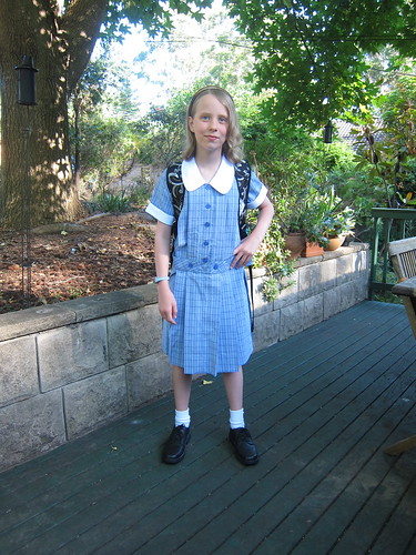 Caitlin's first day at High School