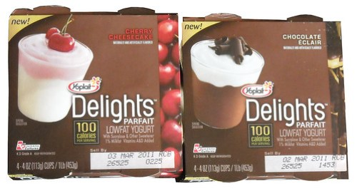 Yoplait Delights Parfaits (Chocolate Eclair & Cherry Cheesecake)