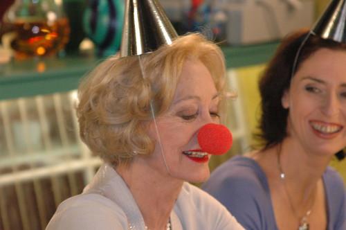 ...die Marianne letterlijk  een neus zet!