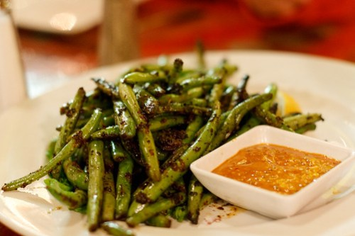 New World Home Cooking - Blackened Stringbeans