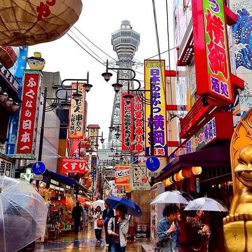 雨の通天閣 #Osaka #通天閣