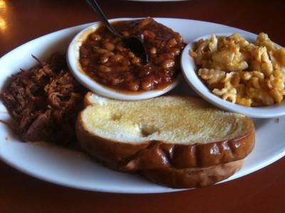 Pulled Pork Plate at JL's BBQ (Macon GA)