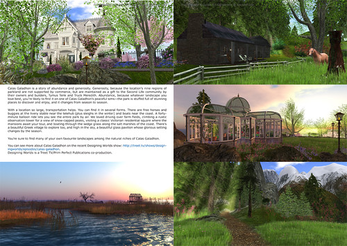 Prim Perfect Garden Special - inside pages on Calas Galadhon