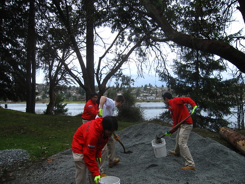 City Year Fiercely Shoveling Gravel