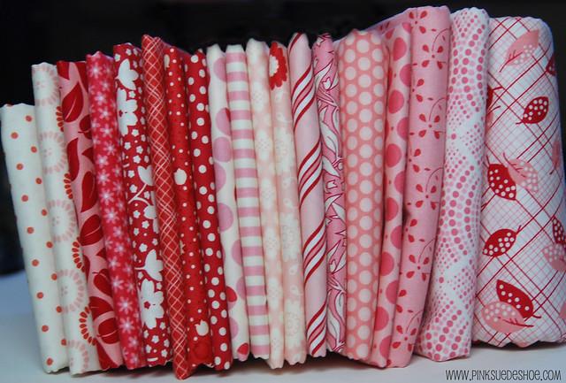 stacks of pinks