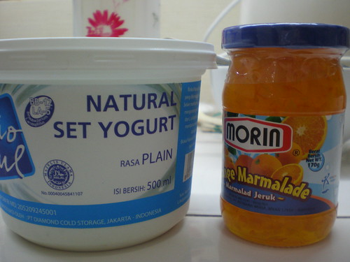 yogurt and jam