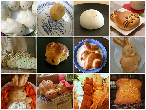 bunny bread mosaic