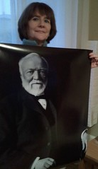 Theresa Breslin with Andrew Carnegie