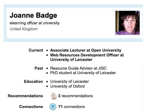 Jo Badge's LinkedIn public profile