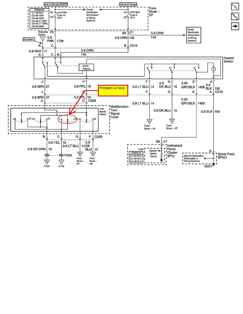 hight resolution of turn signal wiring diagrams this means if the right rear turn signal flashes and the left rear turn