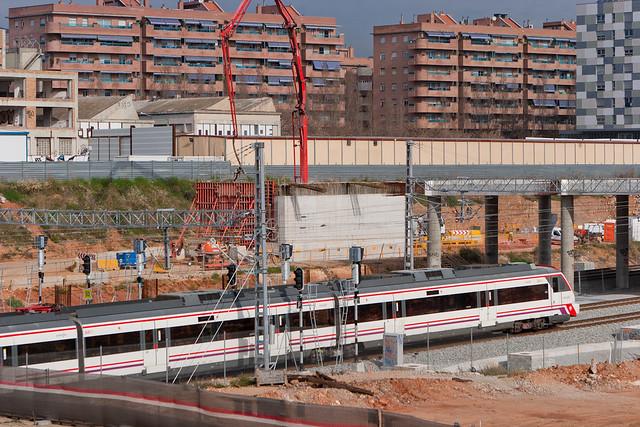 Pont del Treball - Trabajos de la línea 9 del metro - 30-03-11