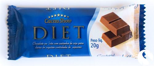 Cacau Show Diet: Chocolate ao Leite com Castanha de Caju