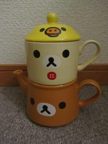 Rilakkuma teapot & cup set
