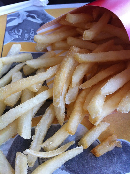 Stop no. 2 on #TouristTuesday. The fries, they are ever so salty.
