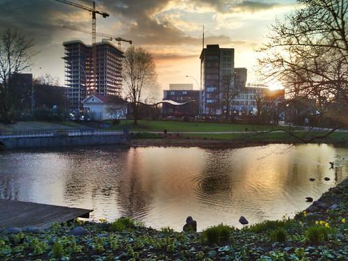 Sonnenuntergang Sankt Pauli