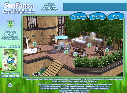 SimFans De Interactive Special For The Sims 3 Outdoor Living