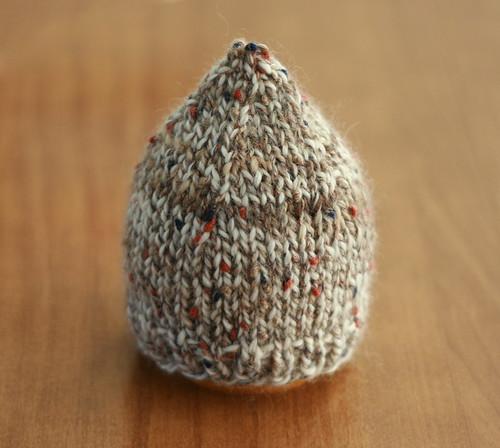 Elfin Hat. Alpaca Mohair Tweed.