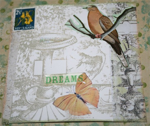 "Garden Dreams 4"" x 4"" Collage card"