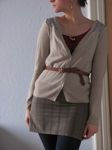 Oatmeal Cardigan refashion