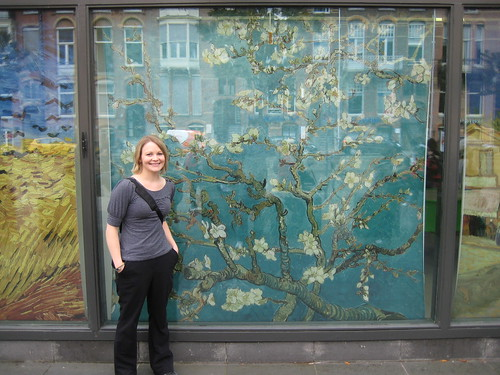 me outside of Van Gogh museum