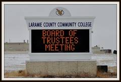 Laramie County Community College digital sign