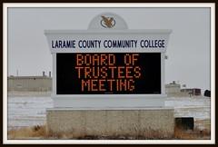 Laramie County Community College digital sign