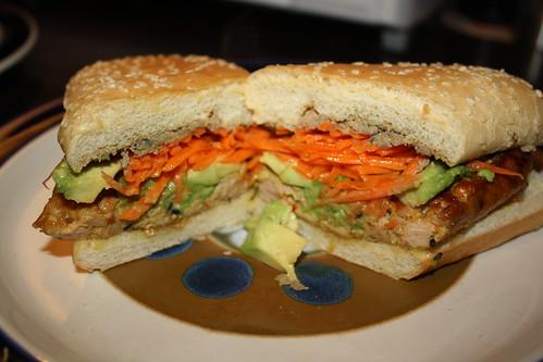 Thai Sausage Sandwich