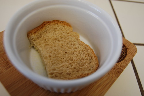 Bread at the bottom
