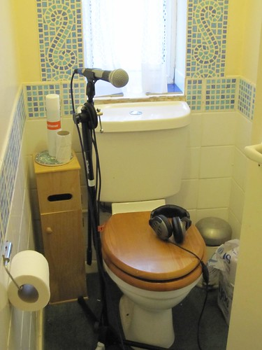 Toilet recording studio
