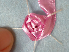 Ribbon embroidery on felt 12