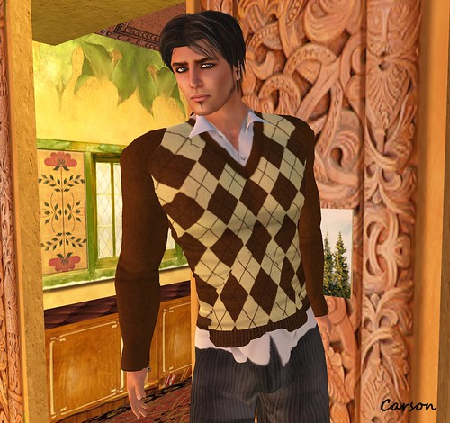 ChiChickie! Christopher Hair  [arnadi] - Argyle Sweater BrownCream