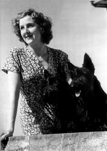 Eva Braun with her Scottish terriers, Negus and Stasi