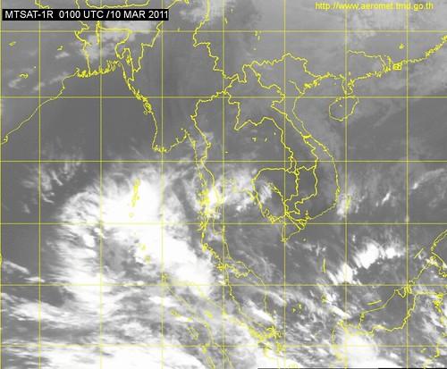 Satellitenbild Thailand Wetter
