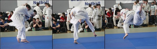 Lachlan throwing with uchimata for Ippon