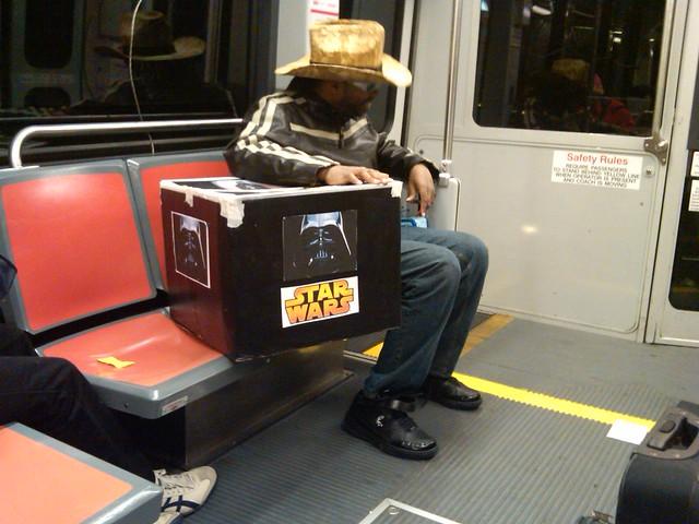When I take the MUNI I like to take my Star Wars box too.