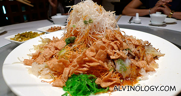The assorted Yu Sheng, ready for tossing