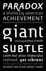 Typeface | Paradox