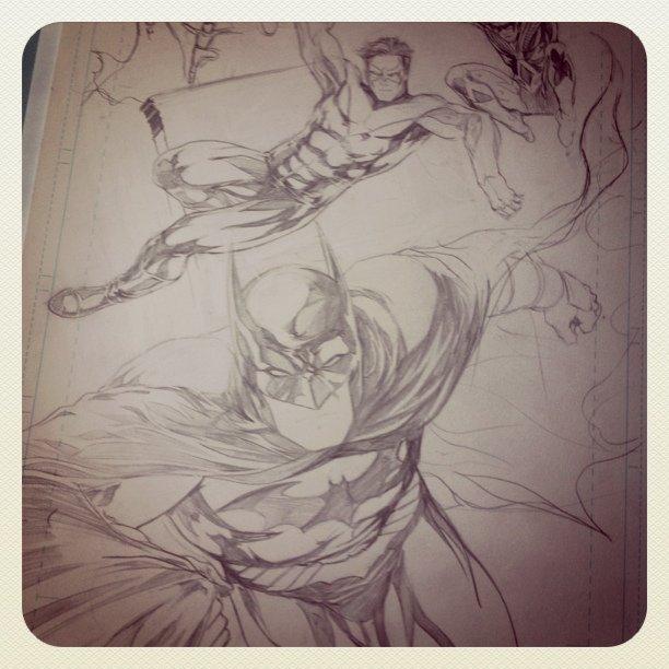 Richard Grayson's evolution - pencils almost done - #comics #dc #titans #batman #nightwing