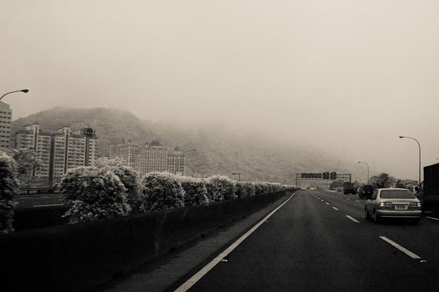 霧中北二高