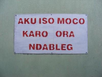 Aku Iso Moco Karo Ora Ndableg   kalifadani