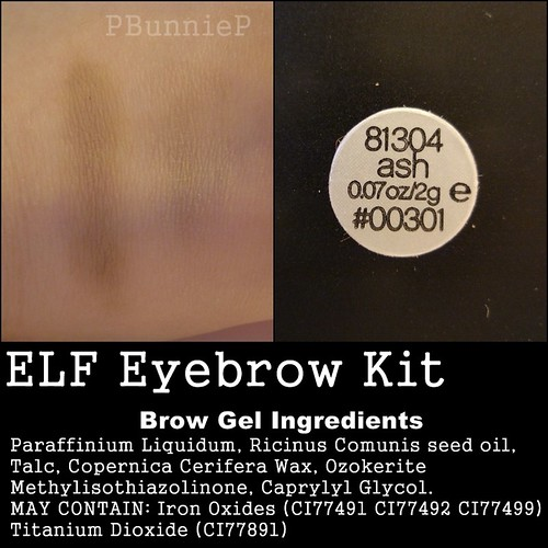 ELF Eyebrow Kit--ingredients