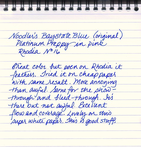 Noodler's Baystate Blue - Original Formulation