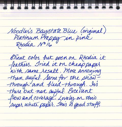Noodler's Baystate Blue - Original Formulation