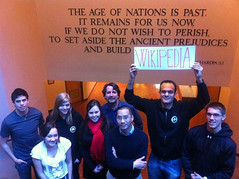 """The age of nations is past. It remains for us now, if we do not wish to perish, to set aside the ancient prejudices and build wikipedia..."""