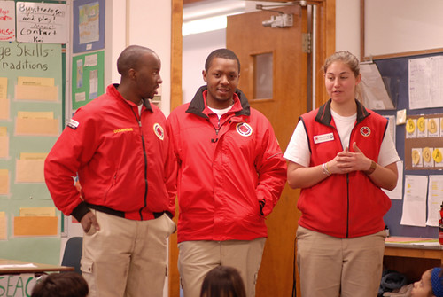 Corps Members speaking to class