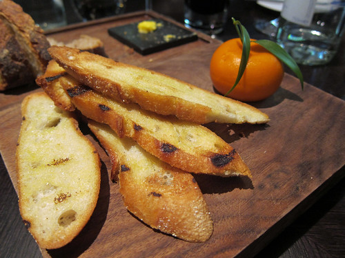 Meat Fruit (c.1500), Mandarin, chicken liver parfait and grilled bread