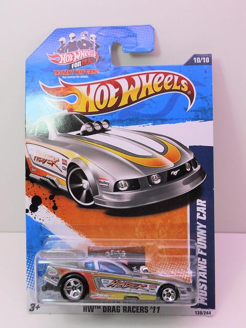 hot wheels mustang funny car silver (1)