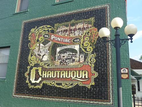 IL, Pontiac 42 - Chautauqua mural