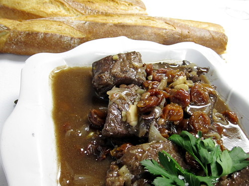 Braised beef shortribs with dried cherries
